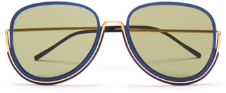 Wires Glasses Earhart Gold/Lunar Blue/Green