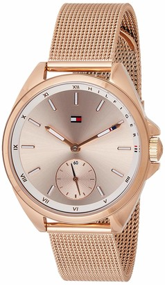 Tommy Hilfiger Women's Analogue Classic Quartz Watch with Rose Gold Strap 1781756