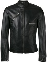 Dolce & Gabbana leather jacket - men - Lamb Skin/Acetate/Viscose - 48