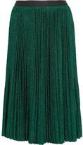 Vanessa Bruno Flo plissé metallic stretch-knit skirt