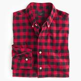Slim Vintage Oxford Shirt In Buffalo Check
