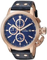 TW Steel 'CEO Adesso' Quartz Stainless Casual Watch, Color:Blue (Model: CE7016)