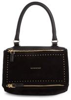 Givenchy Small Pandora Studded Leather & Suede Shoulder Bag - Black