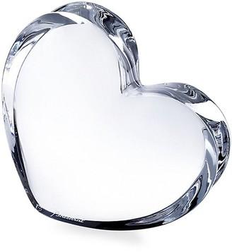 Baccarat ZinZin Clear Heart Sculpture