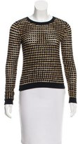 Alice + Olivia Metallic-Accented Knit Sweater