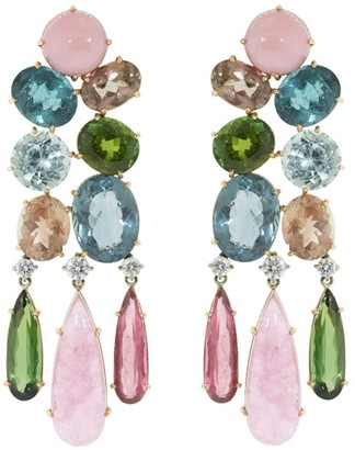 Irene Neuwirth 18kt rose and white gold Gemmy Gem drop earrings