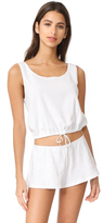 Only Hearts Pointelle Drawstring Tank