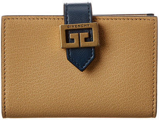 Givenchy Gv3 Two-Tone Leather Card Holder