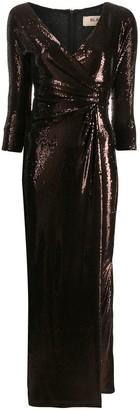 Blanca Vita sequin wrap style dress