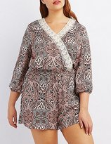 Charlotte Russe Plus Size Crochet-Trim Romper
