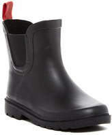 Capelli of New York Matte Solid With Contrast Pull-Tab Rain Boot (Toddlers, Little Kid, & Big Kid)