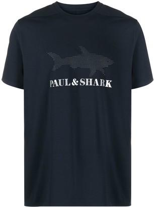 Paul & Shark logo print round neck T-shirt