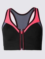 Marks and Spencer Extra High Impact Zip Front Non-Wired Sports Bra A-G