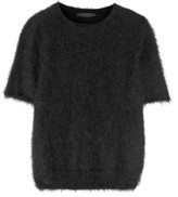 The Row Latilde Brushed Angora-blend Sweater - Black
