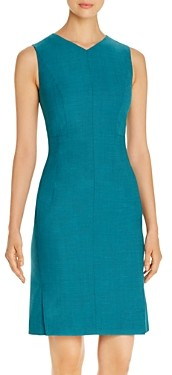 BOSS Dayami Virgin Wool Sleeveless Sheath Dress