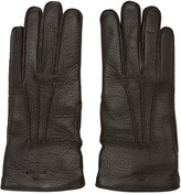 Belstaff Brown Leather Buckle Gloves
