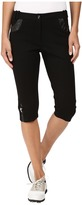 Jamie Sadock Fly Front 24.5 in. Ponte Fabric Knee Capris
