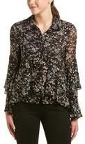Jill Stuart Silk-blend Top.