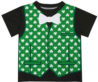 Green & Black Monday's Child Boys' Tee Shirts Vest & Bow Tie Tee - Infant, Toddler & Boys