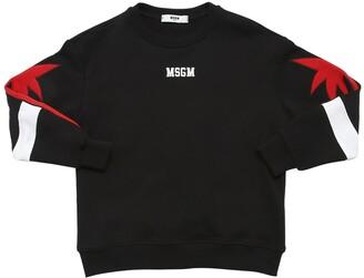 MSGM Embroidered Patch & Logo Sweatshirt