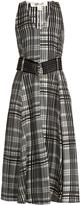 Diane von Furstenberg Sleeveless silk-twill midi dress
