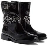 Lelli Kelly Kids Ann Black Patent Jewelled Ankle Boots