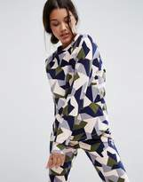 Asos LOUNGE Abstract Camo Print Sweatshirt
