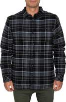 O'Neill Redmond Fleece Lined Plaid Button-Up Flannel Shirt
