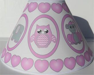 """Presto Chango Decor Safari 11"""" Fabric Empire Lamp Shade Presto Chango Decor Color: Pink"""