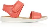 MM6 Maison Martin Margiela Salmon Pink Eco Leather Flat Sandal