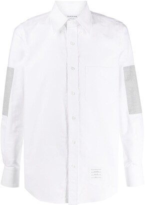 Thom Browne Elbow-Patch Long-Sleeve Shirt