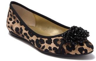 J. Renee Hermine Leopard Print Flat - Wide Width Available