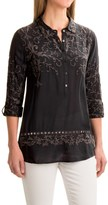 dylan Romantic Embroidered Tunic Shirt - Rayon, Long Sleeve (For Women)