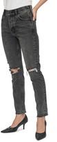 Anine Bing Brenda High Waist Rip Slim Leg Jeans