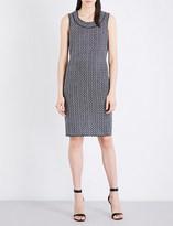 St. John Leila sleeveless tweed dress