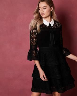 Ted Baker STARH Star lace ruffle dress