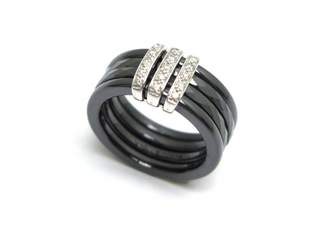 Guy Laroche Black Ceramic Rings