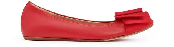 Lanvin Ballet Flat With Poppy Bow