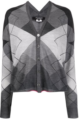 Junya Watanabe Oversized Geometric Cardigan