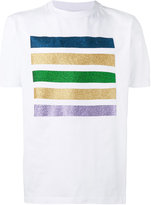 Palm Angels glitter stripe T-shirt - men - Cotton - S