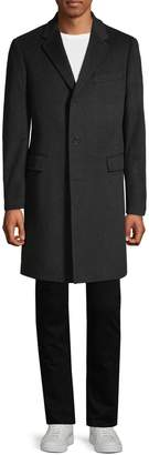 Saks Fifth Avenue Cashmere Buttoned Cashmere Topcoat