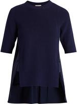 Moncler Contrast-panel round-neck cotton top