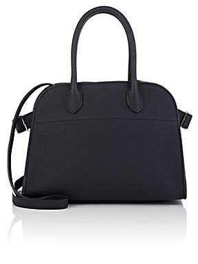 The Row Women's Margaux 10 Leather Satchel - Navy