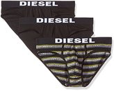 Diesel Men's 3-Pack Andre Solid/Stripe Cotton Stretch Brief