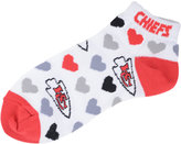 For Bare Feet Women's Kansas City Chiefs Heart Logo Repeat Socks