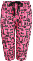Yours Clothing YoursClothing Plus Size Womens Speech Bubble Print Cropped Pyjama Bottoms