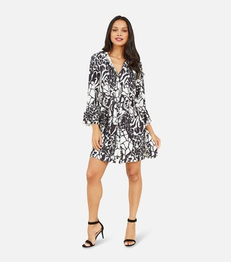 New Look Mela Mixed Animal Print Shirt Dress