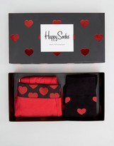 Happy Socks Valentines Gift Set 2 Pack Trunk & Sock