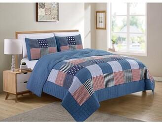Melange Home Americana Patchwork Quilt Set