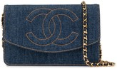 Chanel Pre Owned 1997 CC stitch chain wallet